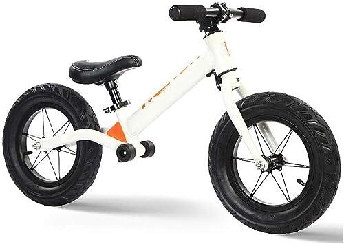 Vélo équilibré pour Enfants en Alliage, Bicyclette, Jardin d'enfants sans anses, adapté aux Enfants de 2 à 6 Ans ( Couleur   blanc )