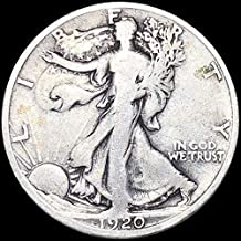 1920 S Walking Liberty - 90% Silver - Full Date - Half Dollar Full Good or Better US Mint