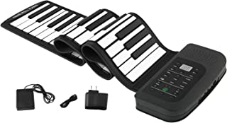 $78 » Roll Up Piano Electronic MIDI Out Portable Keyboard Piano Standard 88 Keys Digital Educational Music Keyboard Piano With Pedal and Build-in Speaker for Beginner