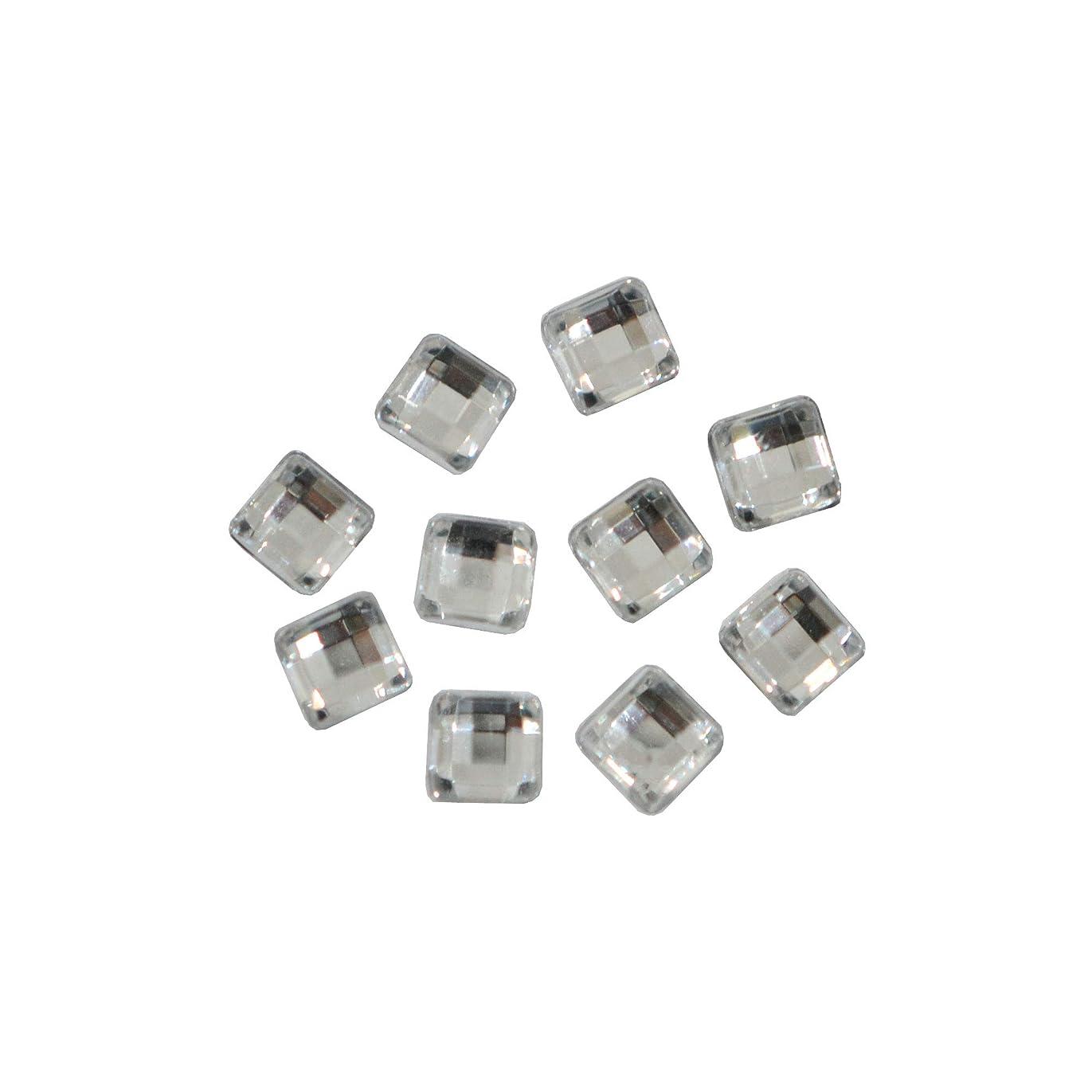 れるアンドリューハリディまだらスクエアストーン 30粒 / 色々使える四角いアクリルストーン (クリスタル 4mm)