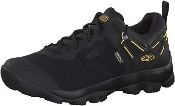 KEEN - Men's Venture Waterproof Mesh Hiking Shoe, Black/Keen Yellow, 8 US