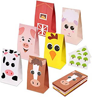 RecooTic Kids Animal Party Bags Goodie bags for Kids Birthday Themed Party, Pack of 24