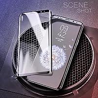 MQman Galaxy s9 Galaxy s9+ ガラスフィルム 曲面ガラス全面タイプ 耐衝撃9Hフロント強化ガラス全面保護 galaxy s9プラス液晶フィルムdocomo SC-02K SC-03K au SCV38 SCV39 (GalaxyS9+, 黒)