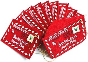 Hemobllo 15pcs Christmas Non-Woven Fabric Card Money Envelopes Christmas Candy Gifts Cookie Bag with Santa Claus Christmas...