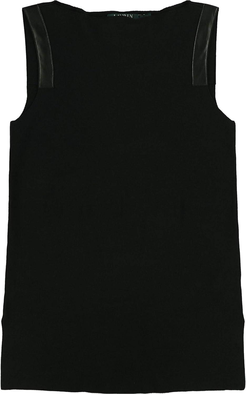 Ralph Lauren Womens Straight-Fit Tank Top, Black