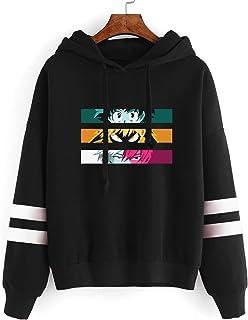 My Hero Academia Hoodie Printing Stripe Midoriya Lzuku Youth Men's Women's Teens Long Casual Pullovers Hooded Top Cosplay ...