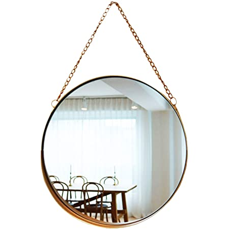 Amazon Com April Box Decorative Hanging Wall Mirror Small Vintage Mirror For Wall 10 Inch Gold Metallic Frame Mirror Premium Quality Material Wall Mirrors Easy Mounting Ideal For Bathroom Home Decor Kitchen