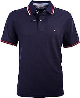 Men's Striped Collar Polo
