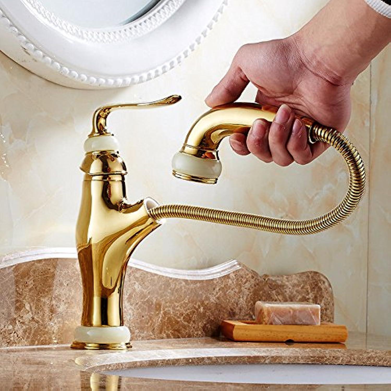 ETERNAL QUALITY Bad Waschbecken Wasserhahn Küche Waschbecken Wasserhahn Kupfer Ausziehbarer Heier Und Kalter Retro-Aufsatz-Teleskop-Wasserhahn Waschtischmischer BEG576