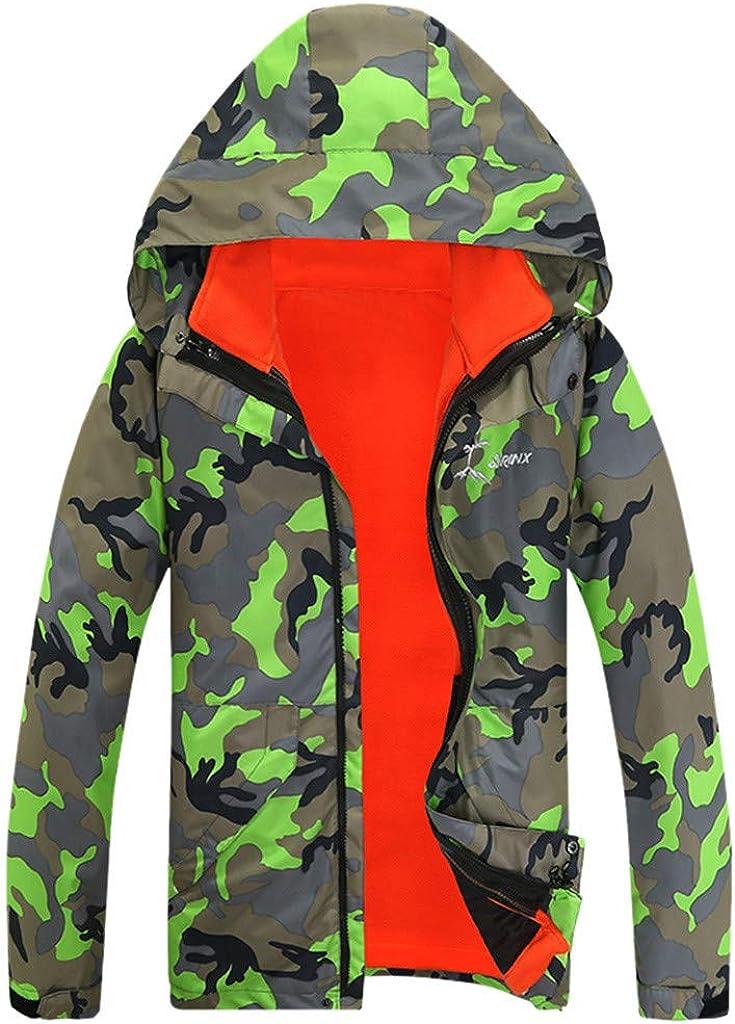 Couple Men's Snow Jacket Outdoor Windproof Waterproof Camo Ski Jackets Winter Hooded Mountain Fleece Outwear