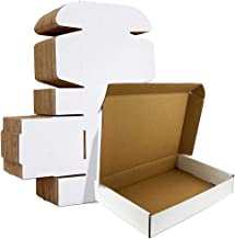 HORLIMER 12x9x3 inches Shipping Boxes Set of 20, White Corrugated Cardboard Box Literature Mailer