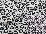 Baumwolljersey Farbwechsel Meliert Panther UV-Stoff