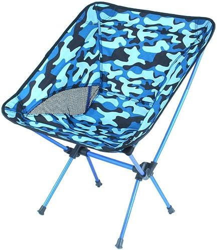 LHLCG Camping Chaise Pliante extérieure portable Moon Chaises Plage Pique-Nique Croquis Tabouret de pêche avec Dossier