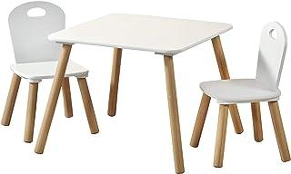 Kesper 1771213 Table pour enfant avec 2 étages Blanc 55 x 55 x 45 cm Chaise 27,5 x 27,5 x 50,5 cm