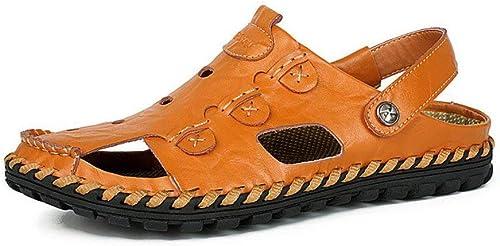 Fuxitoggo Sandales d'été, Chaussures de Plage pour Sports de Plein air pour Hommes, Sandales Tendance pour Hommes à Bout Ouvert. (Couleur  E, Taille  41) (Couleuré   E, Taille   EU 40)