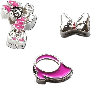 Charms pulsera oficial Disney Minnie Mouse lazo, zapato & Minnie - en caja (color