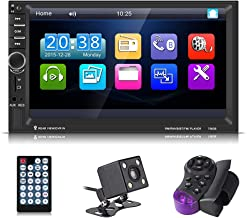 Serounder Car MP5, 7060B 7inch HD TFT Screen Bluetooth Car MP5 Video Player FM Radio AUX USB Rearview Camera with Remote Control
