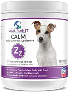 Vital Planet - Calm Powder for Dogs - Natural Anti Anxiety Supplement for Dogs - 111 Grams 60 scoops