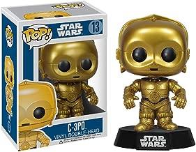 Funko C-3PO: Star Wars x POP! Vinyl Figure & 1 PET Plastic Graphical Protector Bundle [#013 / 02387 - B]