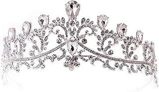 Dongyu Corona, Elegante Pallina for Matrimonio Sposa Festa Trapano Ad Acqua Decorato con Simpatico Regalo for La Testa (Co...
