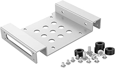 ORICO Aluminum 5.25 inch to 2.5 or 3.5 Inch Bay Adapter Internal Hard Disk Drive Mounting Kit with Screws and Shock Absorption Rubber Washer- Silver