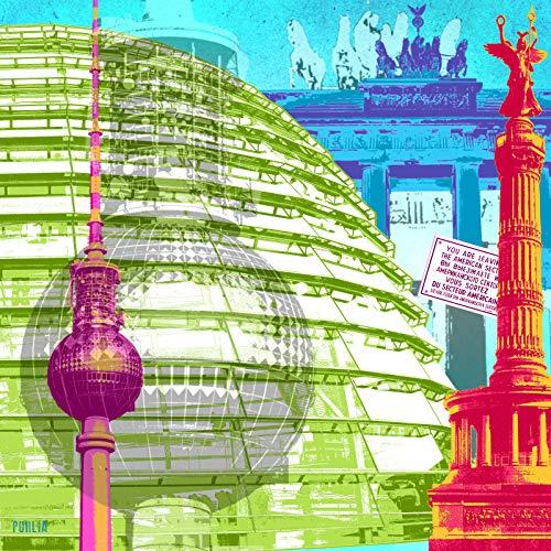 StadtKUNST - das Original: Bild auf Aluminium Collage Berlin Format 67x67