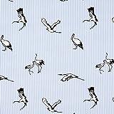 Fabulous Fabrics Popeline Streifen Stretch Kranich –