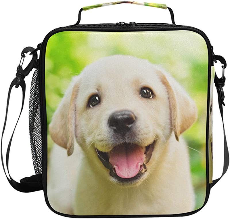 My Little Nest Insulated Cooler Square Tote Lunch Bag Labrador Puppy Thermal Work Picnic Food Organizer Lunchbox For Women Men Kids