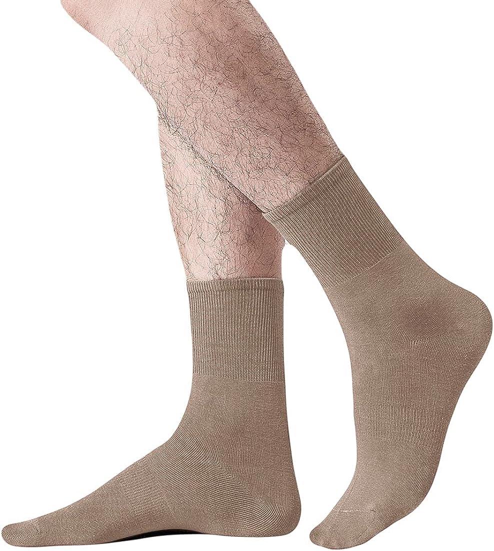 ZONBAILON Men's Casual Crew Socks Business Mid Calf Cotton Socks (6 Pairs)