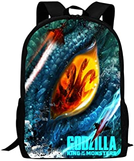 BEKAI God-Zilla Dragon Eyes | Comfortable & Light School Bags Multiple Pockets Backpack for Kids/Youth/Boys/Girls