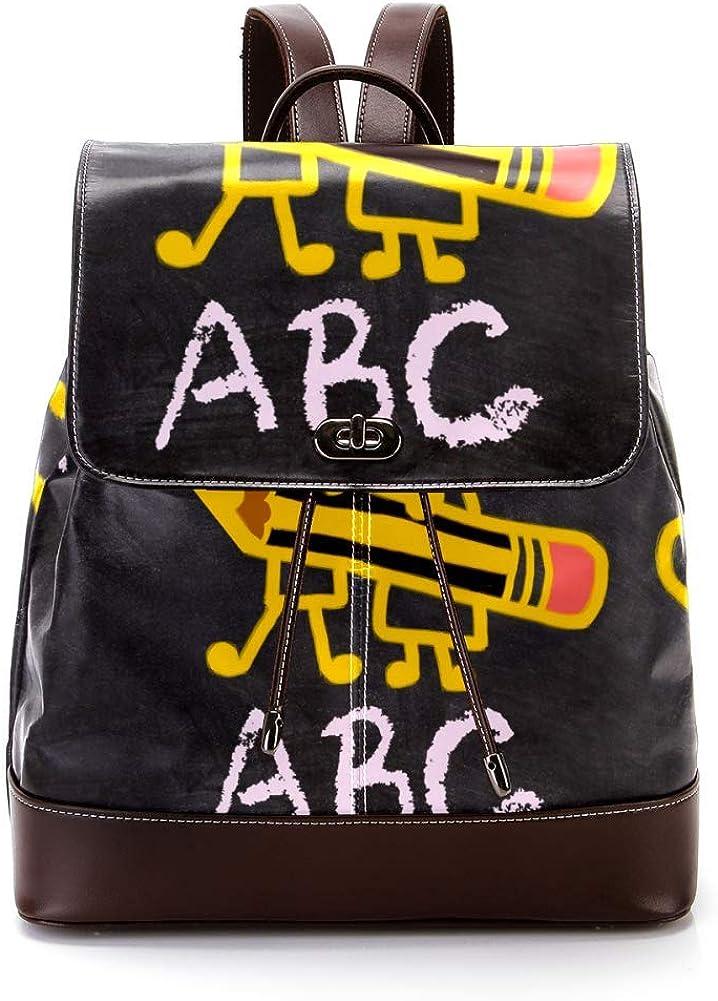 Boy And Girl PU Leather Backpack Fashion Shoulder Bag Rucksack Travel Bag for Women Girls
