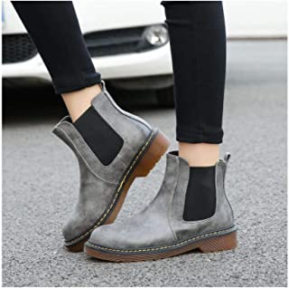 Fur Warm Chelsea Boots Women Motorcycle Ankle Boots for Women Round Toe Winter Snow Boots