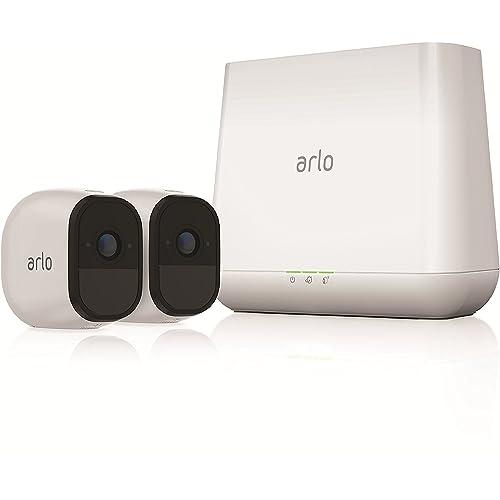 Arlo Pro - Smart caméra de surveillance, Pack de 2, 720p, jour/nuit, grand angle 100% Sans Fils - VMS4230-100EUS