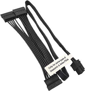 COMeap 6 pines Masculino a 3X 15 pines SATA Hembra Poder del disco duro Adaptador Cable para fuente de alimentación Modular Seasonic Antec de 20 pulgadas (50 cm)
