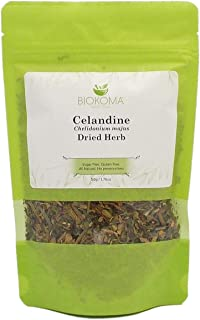 100% Pure and Natural Biokoma Celandine Dried Herb 50g (1.76oz) in Resealable Moisture Proof Pouch