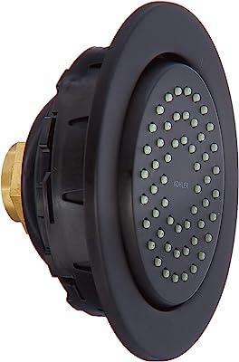 Kohler K-8014-BL WaterTile Showerhead, Matte Black