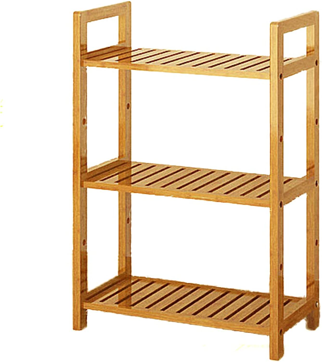 3-5 Tier Wood Bookshelf,Multifunctional Shelf Bookcase Thickened Floor-Standing Storage Organizer Display Storage Furniture-D 50x25x70cm(20x10x28inch)