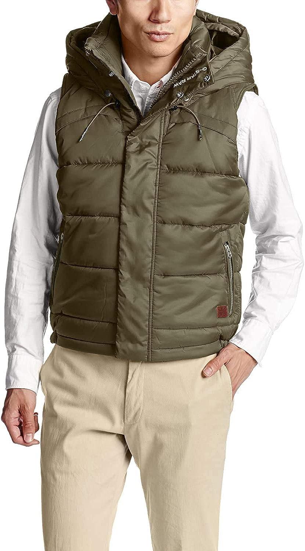 [G-Star] Men's Whistler Hooded Vest Dark Sage Green Down Vest