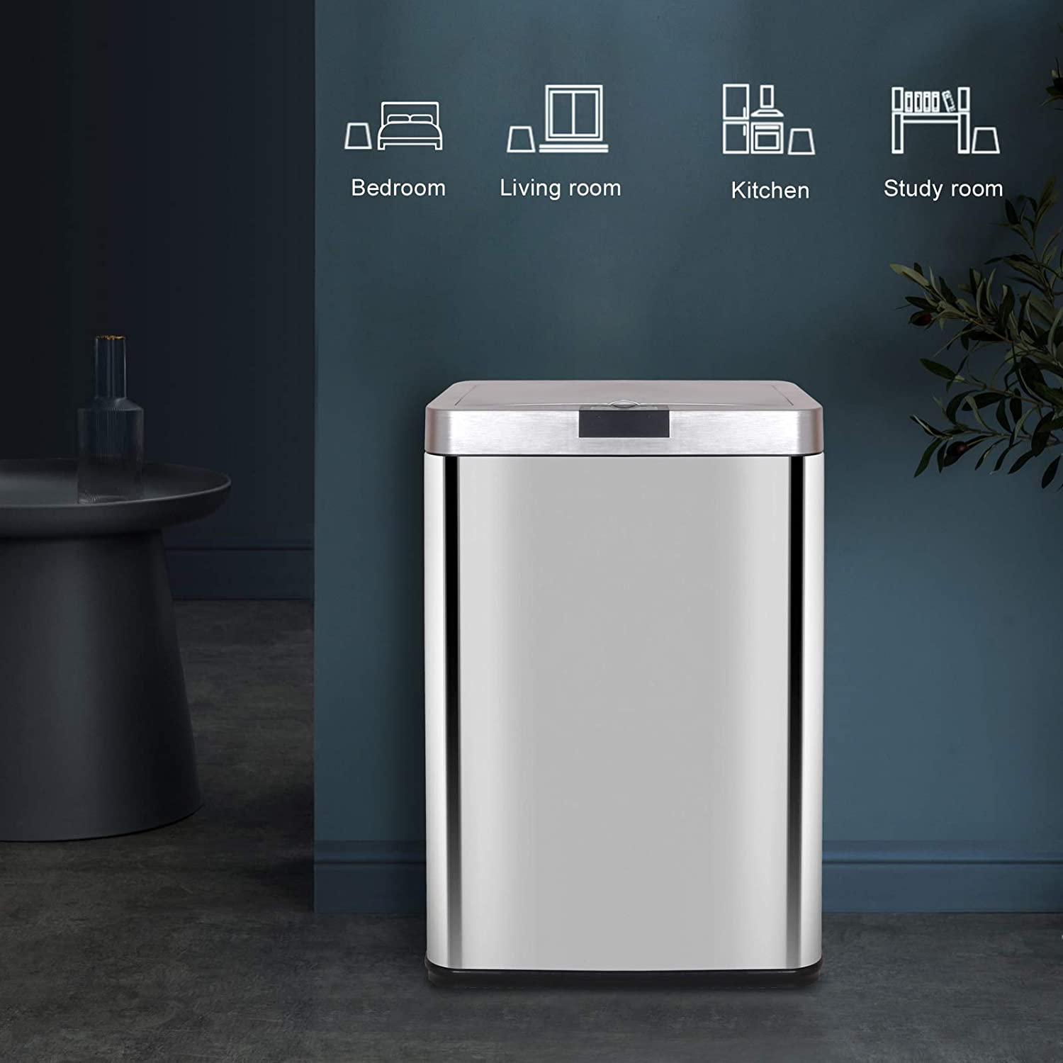 Bonnlo Automatic Garbage Can 13 Touchless Bru Gallon latest Virginia Beach Mall Trash