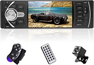 $54 » Single Din Car Stereo with Bluetooth 4.1 Inch Touch Screen in-Dash car Radio Support FM Radio Receiver USB/SD/TF/AUX MP5 P...