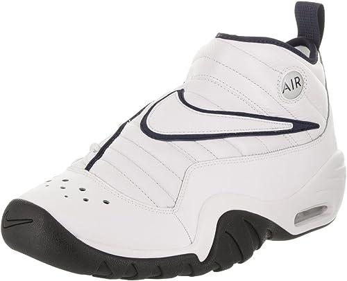 NIKE Herren Air schütteln Ndestrukt Basketballschuh 11 US 10 UK Weiß Weiß Dunkelblau