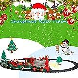 HUVE Electric Light Music Weihnachtszug Klassisches Weihnachtszug-Set Mit Lichtern Und Geräuschen Kinder-Kleinbahngleis-Spielzeug Batteriebetriebenes Modellbahn-Set -