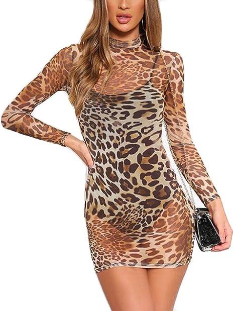Womens Bodycon Dress Ladies Summer Strappy Leopard Snake Print Club Mini Dresses