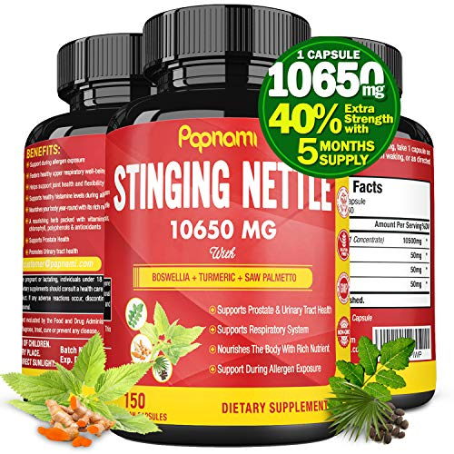Organic Stinging Nettle Root Extract Capsules 10650MG, Highest Potency Plus Health Complex, 5 Months Supply | Prostate Health Supplements for Men| Promotes Urinary Tract Health, Blood Pressure Support