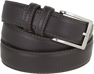 La Bottega del Calzolaio Cintura uomo in pelle testa di moro classica, elegante, artigianale e made in Italy 3,5 cm