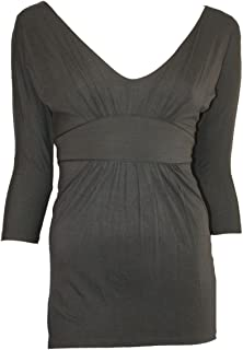 77eb66b26bd6 Ladies Ex Jane Norman Black Plunging V-Neck 3/4 Sleeve Tunic Top.