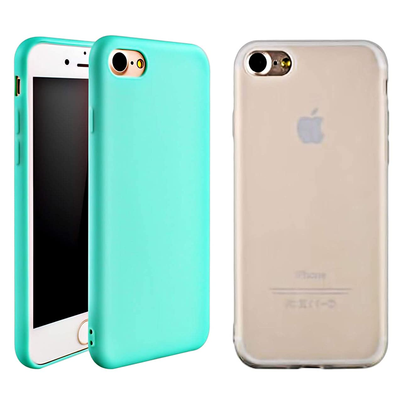 iEugen Protection Slim Cover for iPhone 6 / 6S. Shockproof Shell Full Body Coverage DropProof Drop Protection Durable Pocket Protector Cases not Bulky for iPhone 6/6S - Clear+Teal