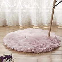 Plush Rug Round Yoga Game Pad Home Decoration Living Room Corridor Door Mat Non-Slip Durable Carpet,3,35cm