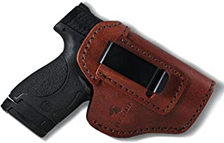 Hide It Deep Genuine Leather IWB Conceal Carry Holster for Glock 17 19 22 23 32 33 / S&W M&P Shield/Springfield XD & XDS, and All Similar Sized Handguns