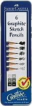 Creative Studio Graphite Sketch Pencil Set W/Tin 6 Pcs